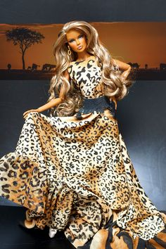 https://flic.kr/p/sSE8Fb | 'savanna' gown fashion doll