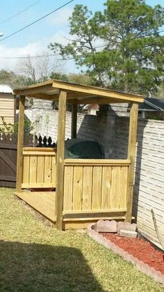 DIY Backyard Projects on a Budget – BBQ & Grilling Stations - Cooking Outdoor Grill Area, Outdoor Grill Station, Outdoor Bbq Kitchen, Outdoor Cooking Area, Backyard Kitchen, Outdoor Kitchen Design, Backyard Bar, Backyard Landscaping, Bbq Shed