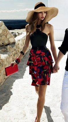 .love the dress....minus the hat!