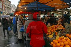 Rain doesn't put market go-ers off at Devizes market