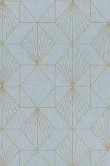 Halcyon Blue Geometric Wallpaper