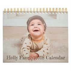 Personalized 2018 Family & Baby Photo Calendar now available in The Liberty Dog Store - Add Your Baby & Family Photos to Your Own calendar