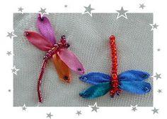 Silk ribbon bug and flower tutorials