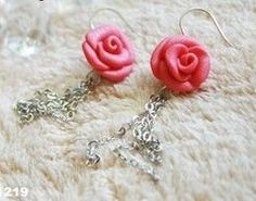Easy Clay Rose Beads for small mirrors and such
