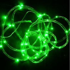 Clear Tube Battery Rope Light 40 LED Lights 15 ft Green Great for Costumes - for Eel Costume