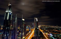 Night in Dubai by Mishari Al-Reshaid Photography, via Flickr