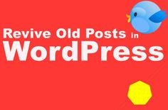 A WordPress plugin called Revive Old Post will make this practice really easy for you and share your old blog posts on regular intervals as per your setting parameters. #wordpress
