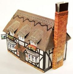"""Kellogg's UK Paper Village - The Cottage - by Toy Connect        Mr. Ed """"ICE"""" Berg, from Toy Connect website, is doing a great work to preserve old and rare paper models, like this Kellogs` Cottage, in a nice Vintage style."""