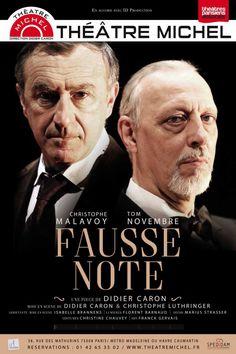 Le spectacle événement mis en scène par Didier Caron et Christophe Luthringer, avec Tom Novembre et Christophe Malavoy, dès septembre 2017 au Théâtre Michel