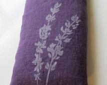 "Linen ""Lavender"" eyepillow filled with flaxseed and lavender"