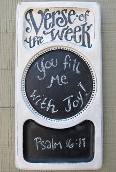 Family verse of the week. LOVE this idea!!