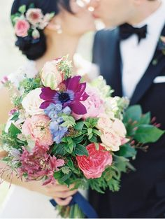 While fresh flowers are always a favorite of ours to adorn the heads of brides, we are in awe of beautiful hair accessories like crowns, combs, circlets and headbands.  For those brides who want some bling to wear in their hair, you can't go wrong with materials like Swarovski crystals, pearls, glass beads, and rhinestones …