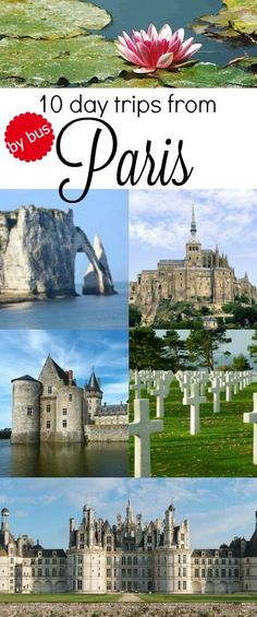 take a bus tour from #Paris and discover the best destinations around Paris on a day trip. Taking an organized tour assures you to not waste time on planning and organizing and you can profit from the local knowledge of your tour guide. Visit Etretat, the landing beaches, the Loire castles or take a half day tour to Versailles.