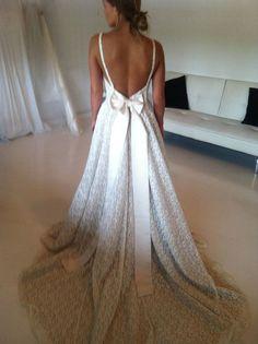 1950/60s Vintage Cotton Lace Wedding Dress