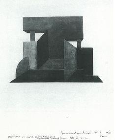 Laszlo Peter Peri, Space Construction, 1922-23 Bauhaus, Constructivism, Chevrolet Logo, Construction, Logos, News, Space, Home, Building