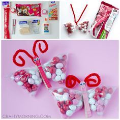 Here is an adorable gift idea for Valentine's Day ~ m&m butterflies! The kids can even help make them for classmates, teachers, etc! It also would look cute with pink jelly beans or any other candy. They are really simple to make and you could do them for any occasion, not just Valentine's Day. Materials Needed: …