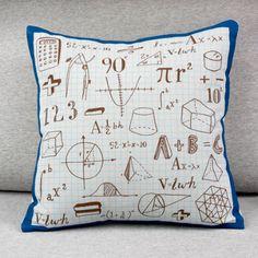 Math nerd pillow.