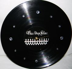 THREE DAYS GRACE Vinyl Record Wall Clock by PandorasCreations, $25.00