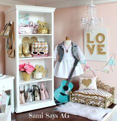 Sami Says AG-- American Girl Tenney Grant's Doll House Room