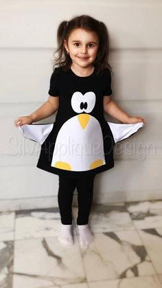 Little Penguin dress/ FREE SHIPPING /Cute dress/Cotton