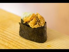 Teriyaki Gunkan-maki Sushi Recipe - YouTube