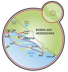 Tripsite southern Dalmatia | Southern Dalmatia Bike Tour - Croatia (a bike boat trip)