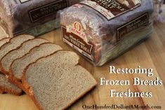 Easy Kitchen Tip – Restoring Frozen Breads Freshness - Food Cook Recipes Freezing Bread, How To Freeze Bread, Cooking 101, Freezer Cooking, Baking Tips, Baking Recipes, Ring Der O, Frozen Meals