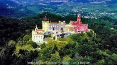 Pena Palace in The Natural Park of Sintra-Cascais - Portugal.  More info:http://www.portugalbike.com/Road_Bike_Tour_Jewels_Of_Portugal