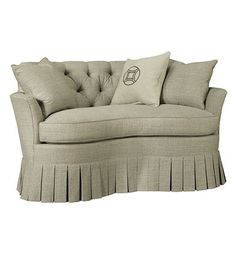 "Hickory Chair   Boudoir Loveseat #7605-59  from the Mariette Himes Gomez collection by Hickory Chair Furniture Co.  61"" w x 37"" d x 34""h"