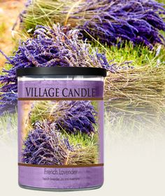 Village candle - French Lavender-Decor Collection-NEW! - Lavender blossoms, Iris and Rosemary.