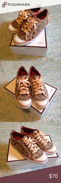 Coach Barrett Tennis Shoes These are in excellent, lightly used condition. Selling what you see. Only worn a few times and then they have just been sitting in the box. I also have free items available, you get to choose up to 5 items when you spend at least $10 in my closet. Anything I have listed that is $10 or less is up for grabs. These shoes are so nice, I never wanted to wear them because I didn't want to get them dirty. Needs a good new home! Coach Shoes Sneakers