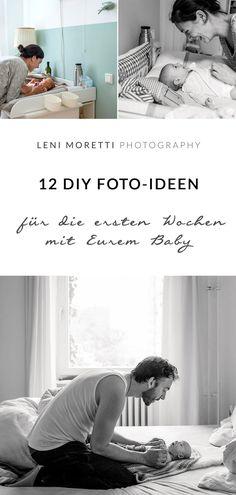12 DIY-Baby-Foto-Ideen für die ersten Wochen. Merke Dir diesen Artikel auf Pinterest!