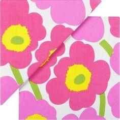 bright pink paper napkins