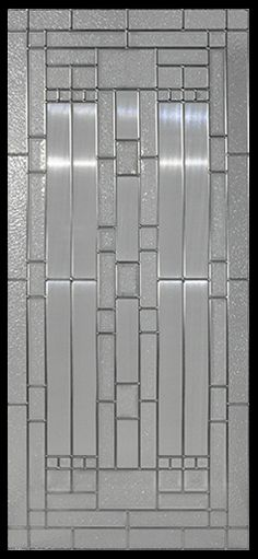 Stained Glass Door Inserts - Waterfall 22x48 Zinc Stocked by Randal's Wrought Iron & Stained Glass serving the Greater Toronto Area and surrounding areas.