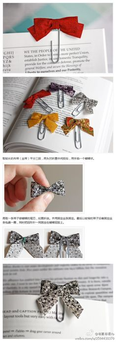 Diy, Bow Tie bookmarks! So adorable