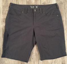Mountain Hardwear Womens Shorts Size 10 Nylon Blend Gray Hiking Active Outdoor | eBay