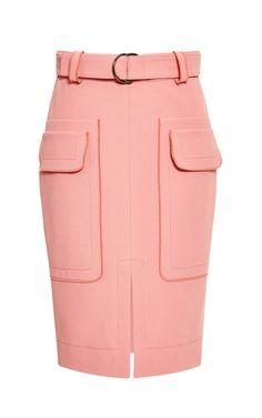 Carnation Belted Patch Pocket Skirt by 10 Crosby Derek Lam for Preorder on Moda Operandi
