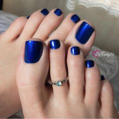 Blueberries are in season! 💙 Polish: Aruba Blue by Blue Toe Nails, Pretty Toe Nails, Sexy Nails, Sexy Toes, Pretty Toes, Foot Pedicure, Pedicure Colors, Manicure And Pedicure, Nice Toes