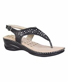 Comfy Soles Appease02 Womens Slingback Thong SandalBlack 9M >>> Check this awesome product by going to the link at the image.
