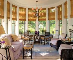 Breakfast/sun room by Jacquelynne P. Lanham Designs (on Kiawah Island).