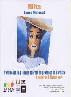 En Janvier.. @LaureMalecot #expose à St Louis rdv le  4 janvier pour le vernissage en présence de l'artiste... à la Galerie Ataya de #St Louis, Sénégal.