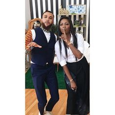 Tiwa Savage Jidenna Lupita Look Stylish In A New Pose in Manhattan. #FashionBlogger