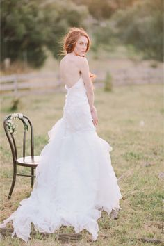 Celest Thoi wedding dress | Jenny Sun Photography | http://burnettsboards.com/2014/01/enchanted-garden-editorial/