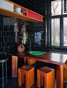 #Sylvester Koziolek #berlin apartment #berlin home #Berlin #apartment #black wall #black #kitchen inspiration #kitchen design #kitchen decor #modern kitchen #kitchen interior #kitchen ideas #kitchen inspo #kitchen #dining table #dining area #wooden furniture #wood table #furniture #window #interiors #germany #interior design #interior decorating #home interior #green #dark walls #dark interior #dark inspiration