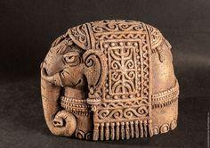 Статуэтки ручной работы. Ярмарка Мастеров - ручная работа. Купить Слон. Handmade. Комбинированный, керамика животные, шамотная глина