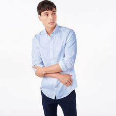 Blue Pinpoint Oxford Shirt by GANT  Diamond G