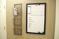 Organizing a Mail Center. Living Rich on Less Bill Organization, Small Space Organization, Family Command Center, Command Centers, Mail Center, I Heart Organizing, Home And Living, Living Rich, Home Management
