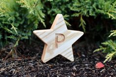 Personalized Wood Star Decor with Letter Engraved Christmas Ornament Decor Personalized Christmas Gift New Baby Shower Gift Birthday Gift Rustic Candle Holders, Rustic Candles, White Christmas Ornaments, Perfect Christmas Gifts, Handmade Wooden Toys, Wood Stars, Star Decorations, Personalized Christmas Gifts, Wood Gifts