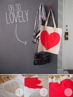 heart tote diy