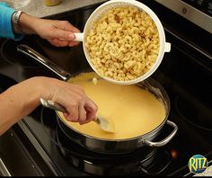 There's nothing like a creamy dish of baked macaroni and cheese. Our homemade recipe calls for RITZ crackers instead of breadcrumbs for a rich and crunchy taste. The most surprising ingredient, though? Dijon mustard! It adds a subtle kick of flavor that's sure to satisfy your tastebuds. This RITZ-y Macaroni & Cheese is a family-favorite for dinner! Life's Rich.